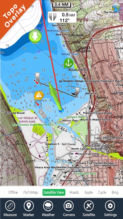 Champlain Lake Vermont HD GPS fishing chart screenshot-0