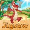 龙卡通拼图为孩子 – 幼儿园学习游戏免费