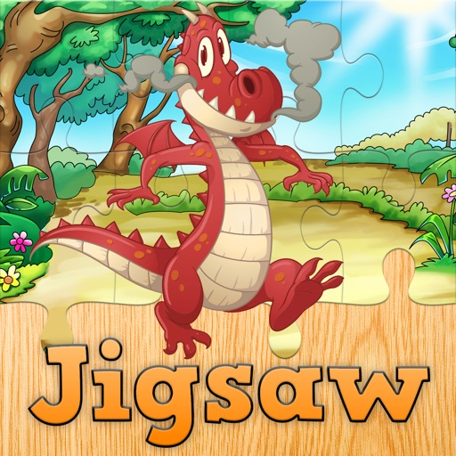 Cartoon Dragon Jigsaw Puzzles for Kids - Kindergarten Learning Games Free Icon