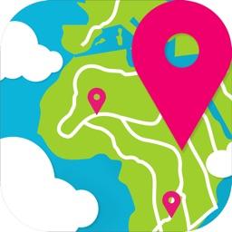 TripMaker - туман на карте мира