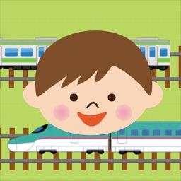レールをつなげて電車あそび!