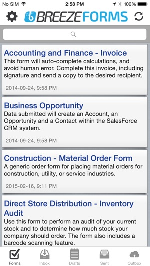 Breeze Forms on the App Store on organization order, internet order, iphone app order, ios 8 app order,