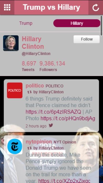Vote 2016 Trump vs Clinton screenshot-3