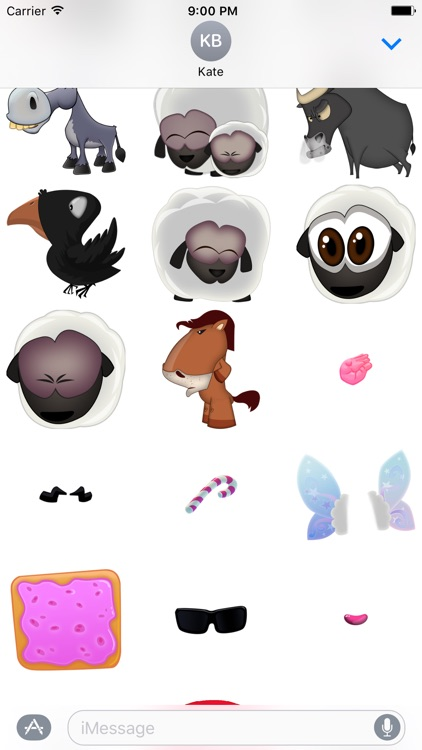 Hay Ewe - Farm friends sticker pack