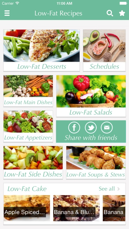 Low-Fat Recipes - low fat cooking tips, ideas