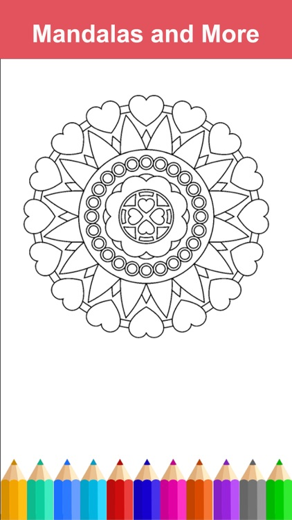 Mandala Adult Coloring Book Free Stress Relieving