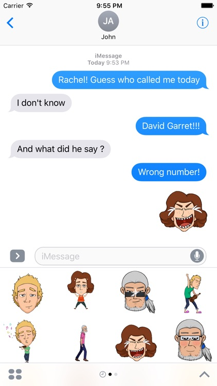 Super Gerry Stickers Pack for iMessage