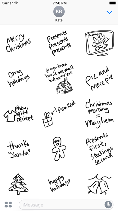 Christmas sticker pack, food stickers for iMessage screenshot two