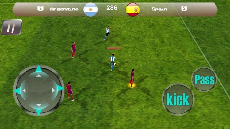 Pro Football Soccer League 3D screenshot-4