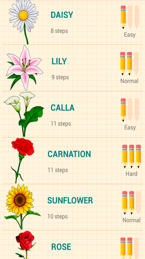 How to draw flowers easy lessons on the app store