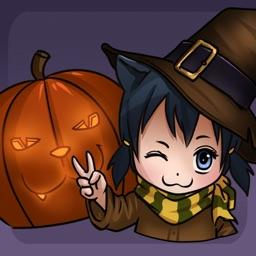 Catgirl Miyu: Halloween Stickers