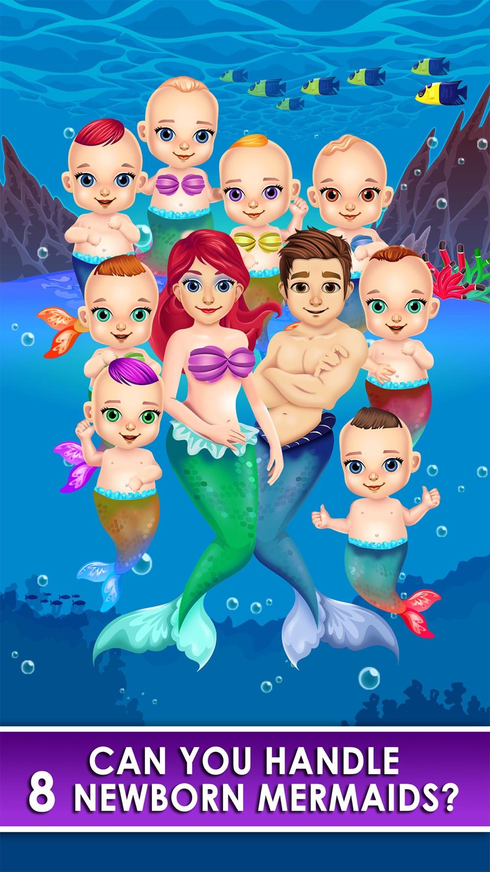 Mermaid Salon Make-Up Doctor Kids Games Free!