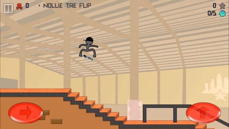 Stickman Skater Free screenshot-3