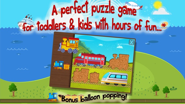Kids Train Transportation Puzzle Games For Toddler On The App Store