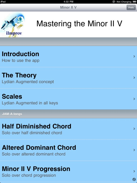 iImprov-MinorIIV for the iPad