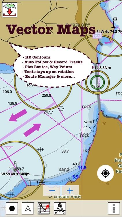 i-Boating:France Marine/Nautical Charts & Maps screenshot-4