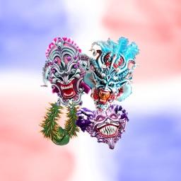 Dominican Carnival Masks