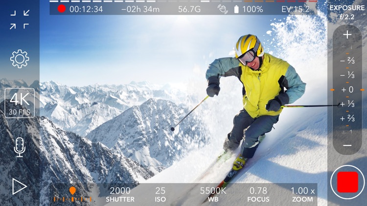 ProMovie Recorder - 4K Video Camera+Manual Control screenshot-0