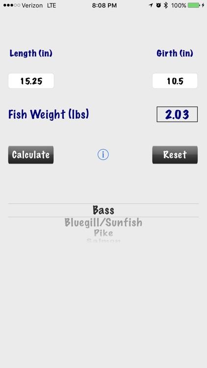 Fish Weight Calculator