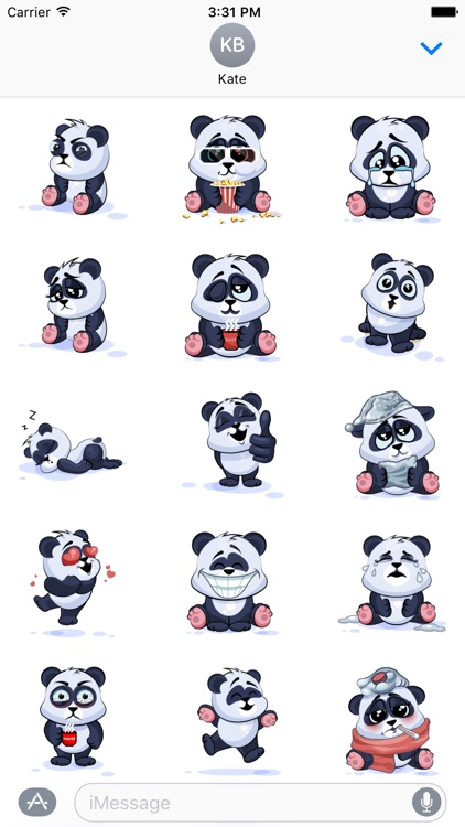 Panda Stickers Pack