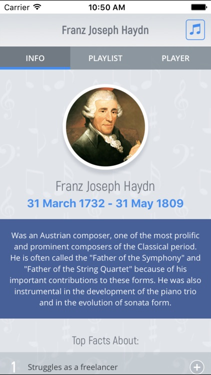 Joseph Haydn - Classical Music screenshot-0