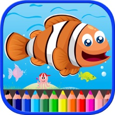 Activities of Sea Animals Coloring Book For Kids Toddlers