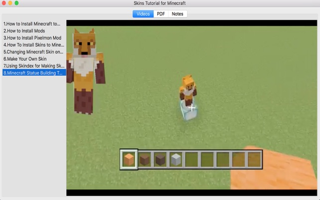 Skins Tutorial For Minecraft On The Mac App Store - Skins para minecraft 1 8 skindex