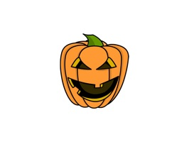 A collection of animated Halloween stickers