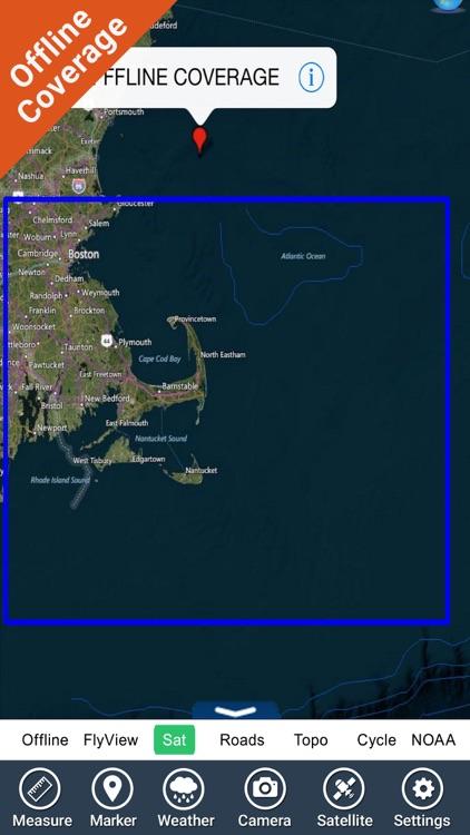 Marine : Cape Cod GPS offline map fishing charts screenshot-4