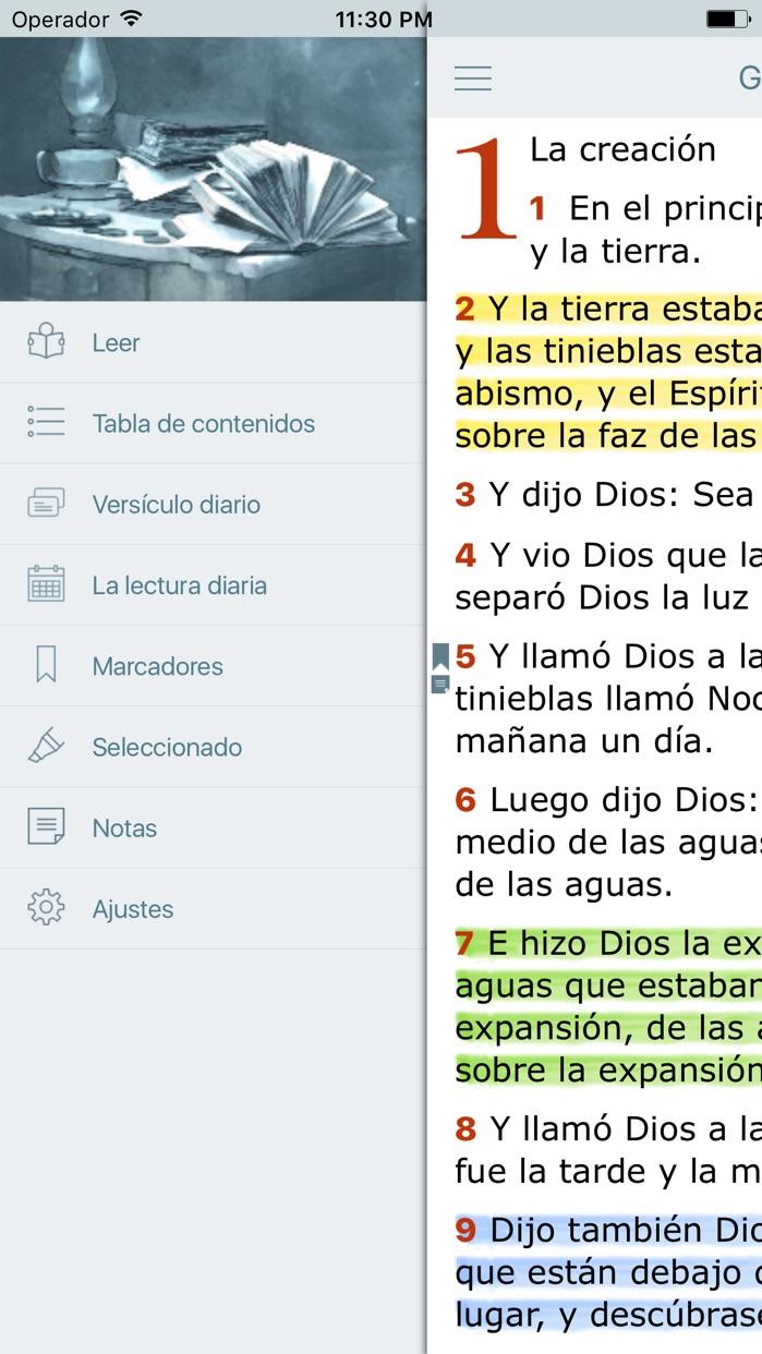 La Biblia Reina Valera en Audio Estudios Biblicos Screenshot