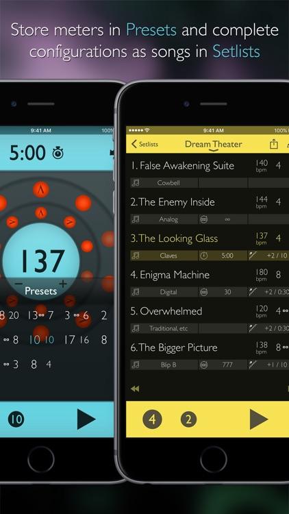 Tempo Advance - Metronome Polyrhythms and Setlists screenshot-3