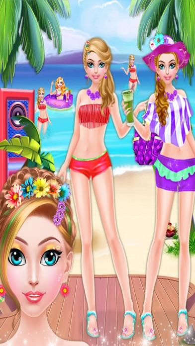 Crazy Girl Beach Party : Seaside Makeup Games screenshot one