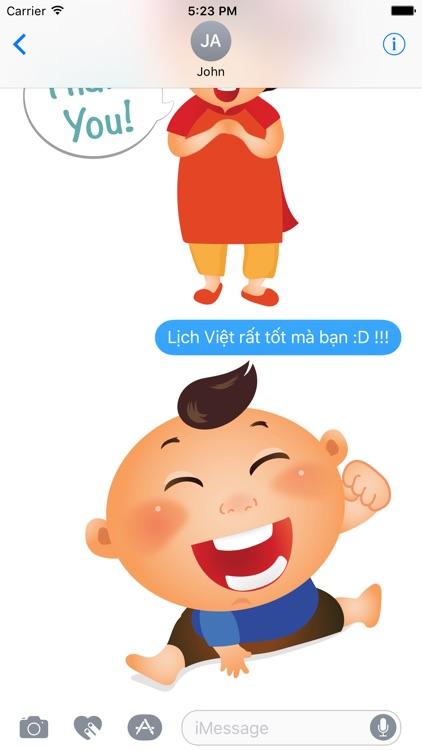 Vietnam Childhood Chat Stickers by Lich Viet