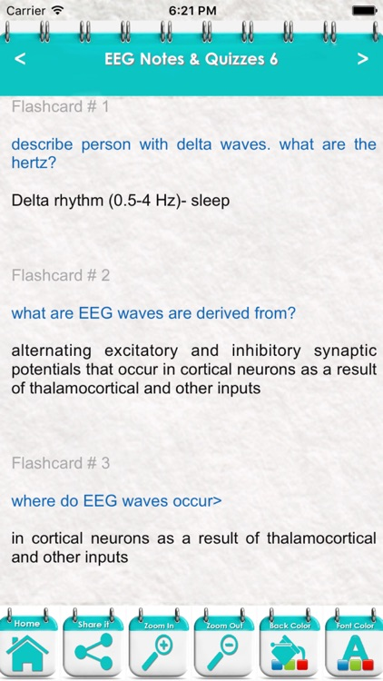 Electroencephalogram EEG 5400 Exam Notes & Quiz screenshot-3