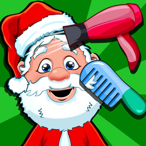 Christmas Salon Spa & Hair Makeover Games for Kids iOS App