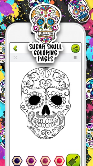 Sugar Skull Coloring Pages on the App Store