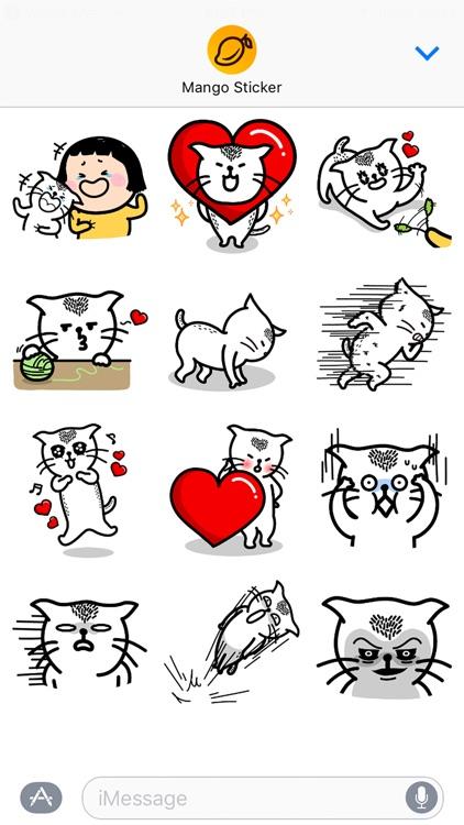 Heart Cat Lite - Mango Sticker