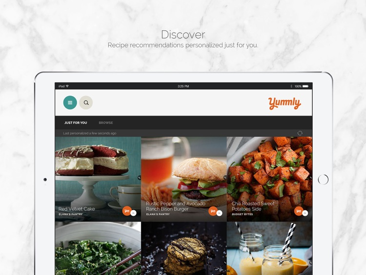 Yummly Recipes & Shopping List for iPad