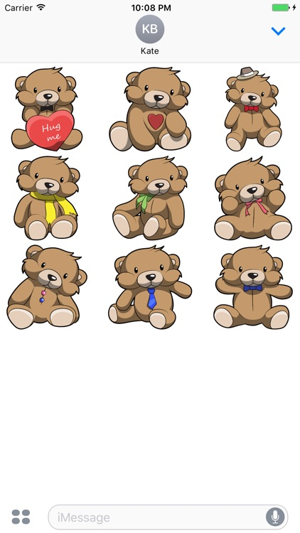 Cute Teddy Bear Stickers For iMessage
