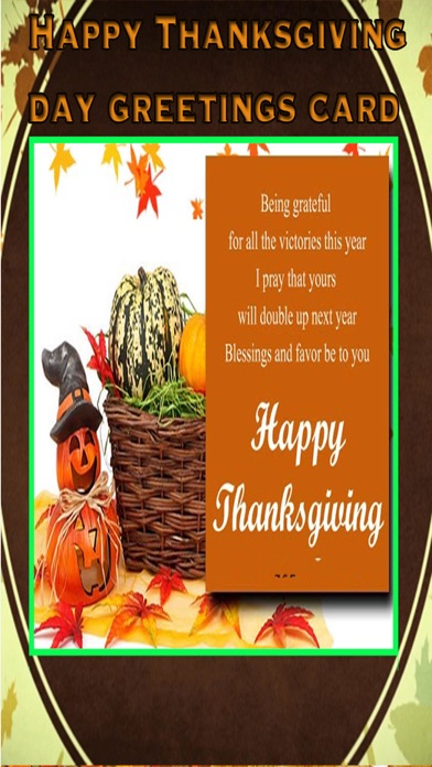 Thanksgiving Day Wishes Card - Quotes & Message screenshot one
