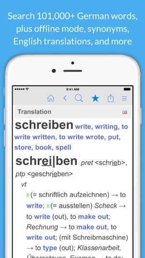 German Dictionary Thesaurus English Translation Im App Store
