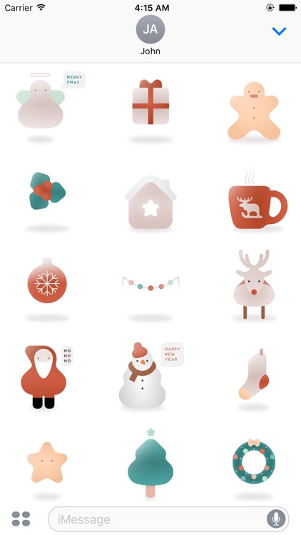 Minimal Christmas Stickers - Stickers For iMessage
