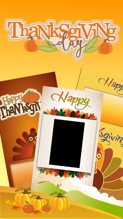 Thanksgiving Day Greeting Cards – Get Crafty With New Holiday Greetings Photo Card Maker screenshot-0