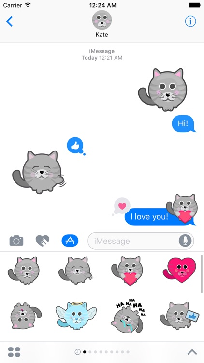 iCat Stickers for iMessage
