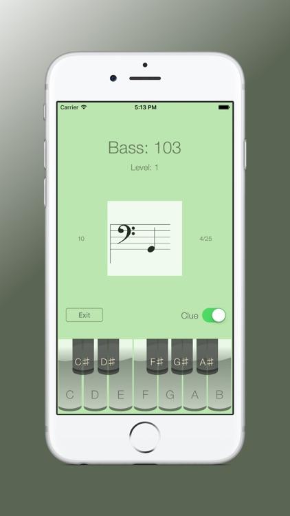 Sheet Music Trainer Bass screenshot-3
