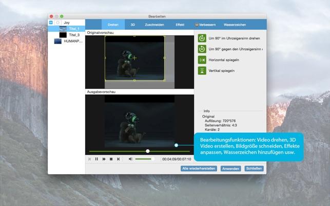 DVD-Video Converter-DVD/Video in MP4 konvertieren Screenshot