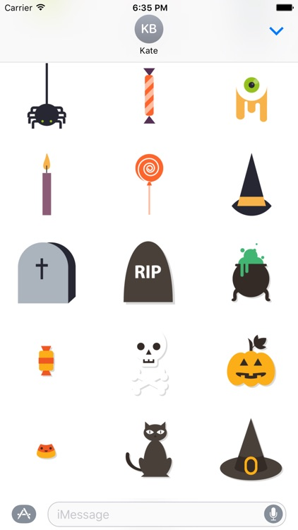 Halloween Sticker Pack and Emoji for iMessage Chat screenshot-4