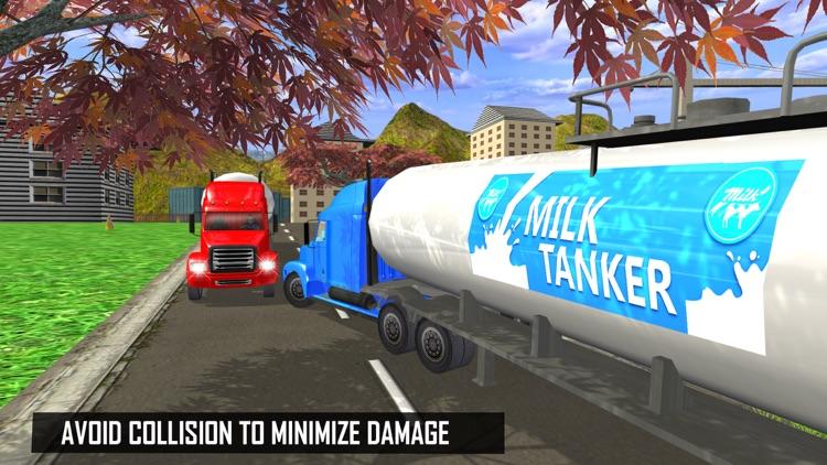 Milk-Man: Offroad Transporter Trailer Truck Drive screenshot-3