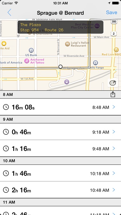 Transit Tracker - Spokane (STA)