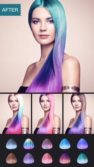 Color Splash Long Two Tone Hair